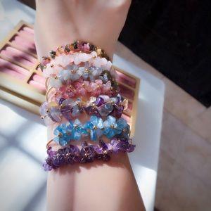 Fire Labradorite/Strawberry quartz /fluorite /Amethyst /bracelet